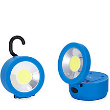 Able & Handy Pack of 2 3W 180 Lumen Swivel COB Work Lights