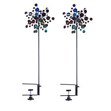 Plow & Hearth Set of 2 Mini Wind Spinners