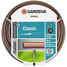 Gardena 30m Classic Garden Hose with Coupling & Nozzle Set
