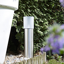Luxform Frosted Glass Solar Garden Bollard Light