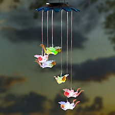 Plow & Hearth Set of 2 Fairy Colour Changing LED Solar Mobiles