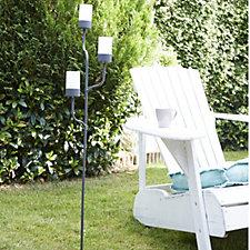Luxform Solar LED 3 Way Candle Garden Stick