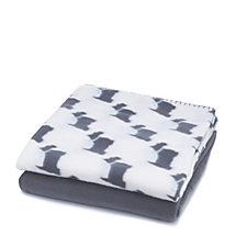 Cozee Home Pack of 2 Microfleece Pet Blankets
