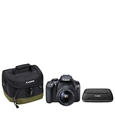 Canon EOS 1300D 18MP DSLR Camera w/ 18-55mm Lens Connect Station Bag & SD Card