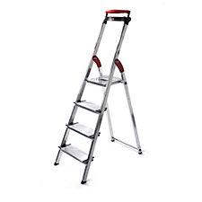 511542 - Hailo 4-Step Lightweight Ladder with Safety Rail
