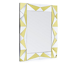 JM by Julien Macdonald Silver & Gold Faceted Mirror