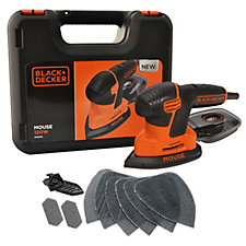 Black & Decker Next Generation Mouse Sander with Kitbox & 9 Accessories