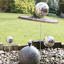 513745 - Home 2 Garden Set of 3 Gazing Ball Decorations