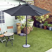 Garden Reflections 2.7m Wooden Telescopic Umbrella