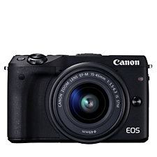 Canon EOS M3 24MP Compact System Camera with Connect Station Bag & 16GB SD Card