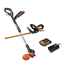 Worx 20v Cordless Hedge & Line Trimmer with Battery & Charger