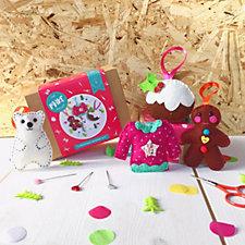 The Make Arcade 4 Piece Felt Christmas Decorations Kit