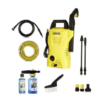 karcher k2 compact pressure washer with complete car cleaning kit. Black Bedroom Furniture Sets. Home Design Ideas