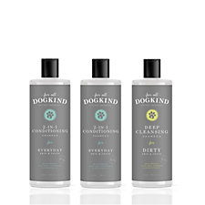 For All DogKind Set of 3 Natural Everyday/Dirty Shampoo Collection