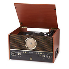 GPO Chesterton Wooden Turntable CDs, Tapes & FM Radio