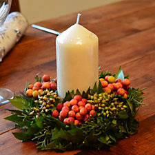 507360 - Plants2Gardens 2 x Festive Table Wreaths with Candles