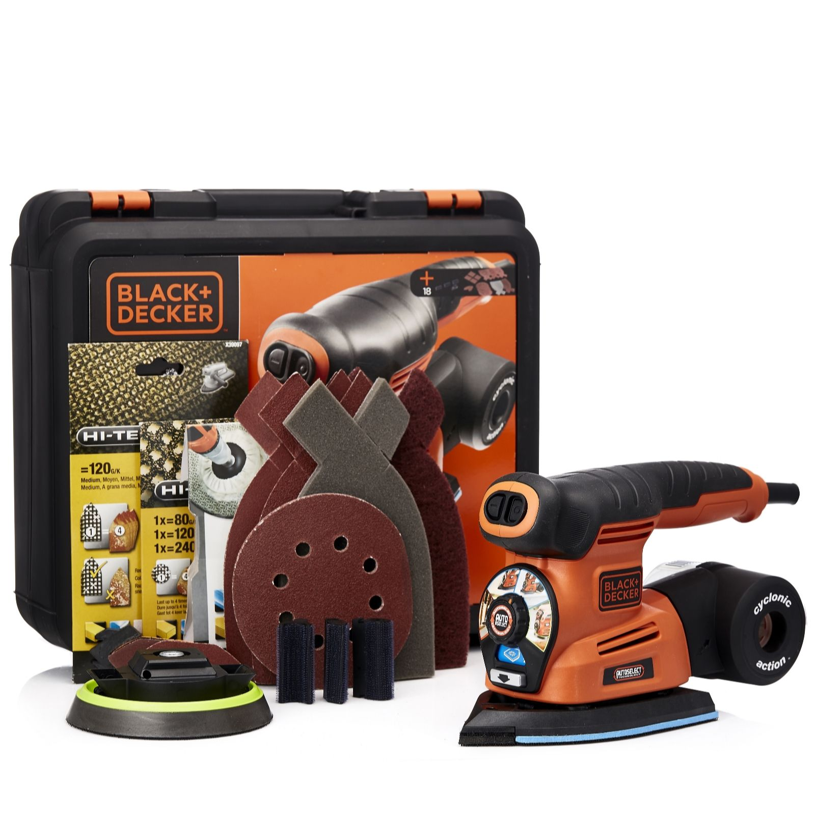 Black & Decker Autoselect 4-in-1 Multi Sander with 26 Accessories - 507560