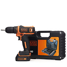 Black & Decker 10.8v Drill with 80 Piece Accessory Kit