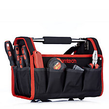 AM-Tech Tool Caddy with 43 Piece Household Tool Set