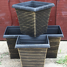 Plants2Gardens Rustic Square Planter Set