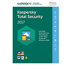 Kaspersky Total Security 2017 4 Devices for 1 Year