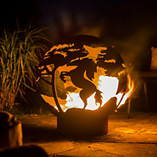 La Hacienda Steel Horse Fire Globe