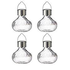Luxform Set of 4 Glass Tea Solar Lantern