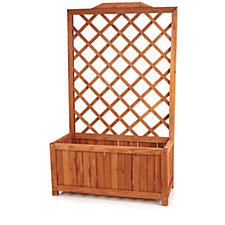 Solid Wood Lattice Design Rectangular Planter