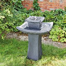 Smart Solar 2 Tier Pagoda Water Fountain