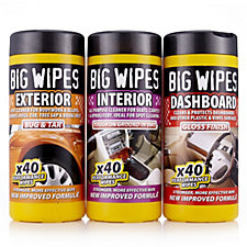 Big Wipes Automotive Care Kit Includes 40x Interior, Exterior Dashboard Wipes