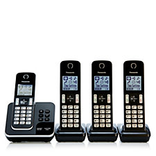 Panasonic TGD324 Quad Dect Phones w/ Nuisance Call Control & Answering Machine
