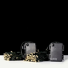 Luxform Set of 2 Battery Operated String Lights with Timer Function