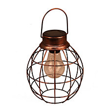 513977 - Luxform Set of 2 Retro Style Solar Lanterns