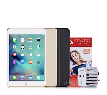 Apple iPad Mini 4 WiFi with Travel Adapter, Case & 2 Yr Tech Support - 507378