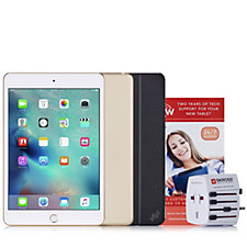 507378 - Apple iPad Mini 4 WiFi with Travel Adapter, Case & 2 Yr Tech Support