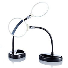 Set of 2 Flexi Neck Table Magnifiers