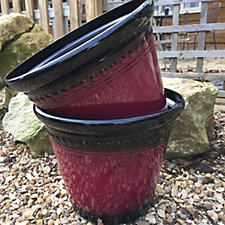 Plants2Gardens Set of 2 Mediterranean Planters
