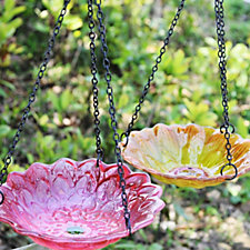 513678 - Set of 2 Flower Bird Feeders