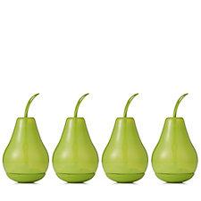 Luxform Set of 4 Green Pear Solar Lights