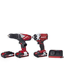 Einhell Power Xchange Combi Impact Driver Twin Pack