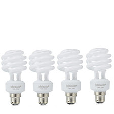 Ecozone Set of 4 Daylight Biobulb Energy Saving Bulbs