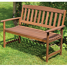 Malay 2 Seater Traditional Style Garden Bench