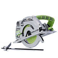 Evolution Fury 185mm Circular Saw with 3 TCT Multi Purpose Blades