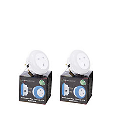 Auraglow Pack of 2 Plug Through Colour Changing LED Night Lights