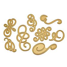 Anna Griffin Set of 8 Fancy Flourish Cutting Dies