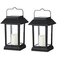 Luxform Set of 2 Flickering Candle Solar Lanterns