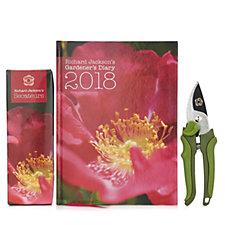 510983 - Richard Jackson's Gardener's Diary 2018 & Secateurs in Gift Box