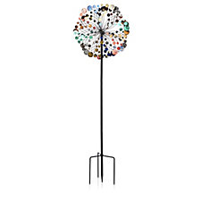 Plow & Hearth Multi-Colour Confetti 6ft Garden Wind Spinner