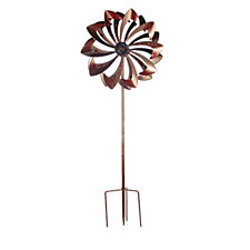 507989 - Plow & Hearth 6ft LED Carnival Wind Spinner