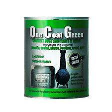 One Coat Green 1 Litre Multi Purpose Satin Paint